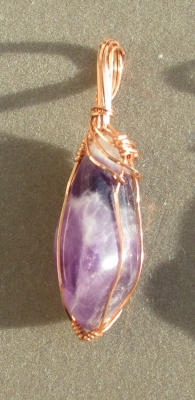 Wire-wrapped Amethyst Pendant